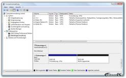 Die Festplatte partitionieren