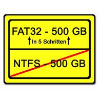 große FAT32 Partitionen schnell einfach erstellen Startbild