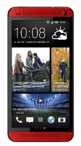 HTC ONE Rot - DraufsichtHTC ONE Rot - Draufsicht