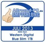 Allround-PC Empfehlung Western Digital WD Blue Slim 1 TB
