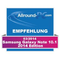 Samsung Galaxy Note 10.1 2014 Edition Award