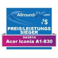Acer Iconia A1-830 Award