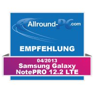 Samsung Galaxy NotePRO 12.2 Award