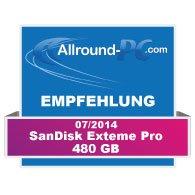 SanDisk Extreme Pro 480 GB Award