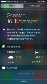 Weather Pro Widget unter iOS 8