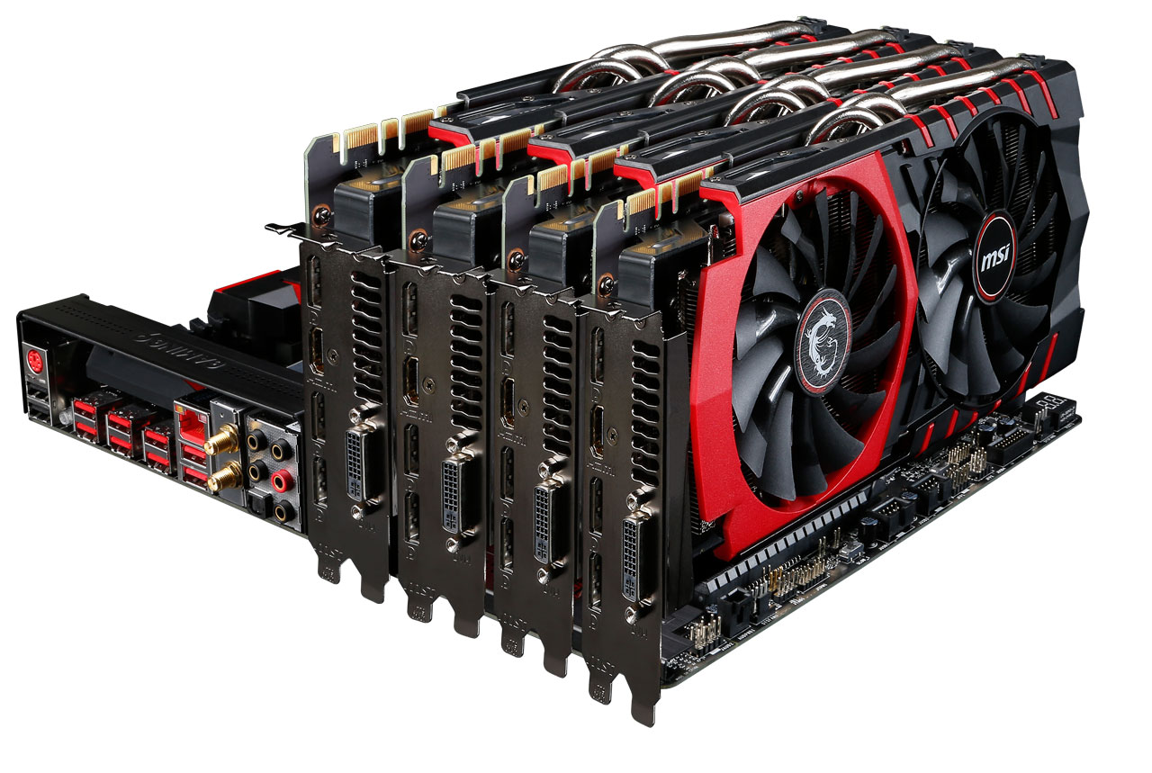 MSI X99S Gaming 9 AC - Grafikkarten
