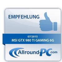 MSI GTX 980 Ti Gaming 6G Award