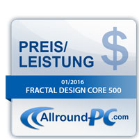 Fractal Design Core 500 Preis Leistung