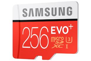 Samsung microSD EVO Plus Speicherkarte mit 256 GB