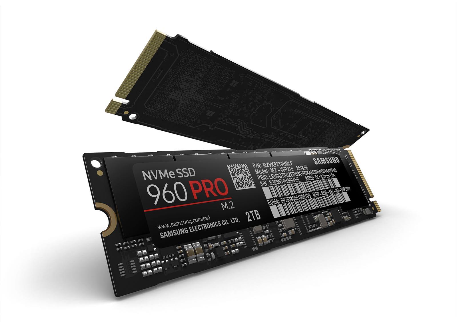 Samsung SSD 960 PRO Schrägansicht