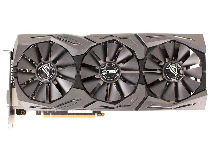 Asus ROG Strix GeForce GTX 1080 Ti OC - Draufsicht