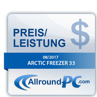 Arctic Freezer 33 Award