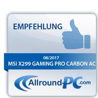 MSI X299 Gaming Pro Carbon AC Award