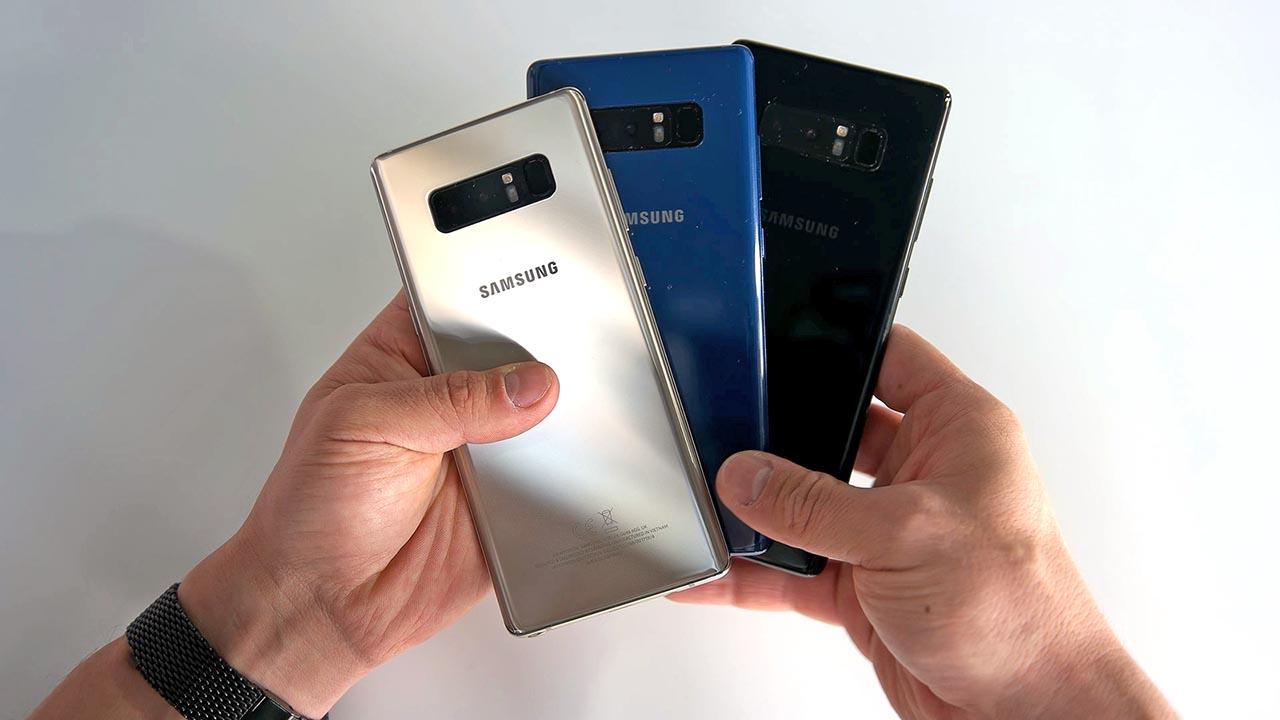 Samsung Galaxy Note 8 Farben