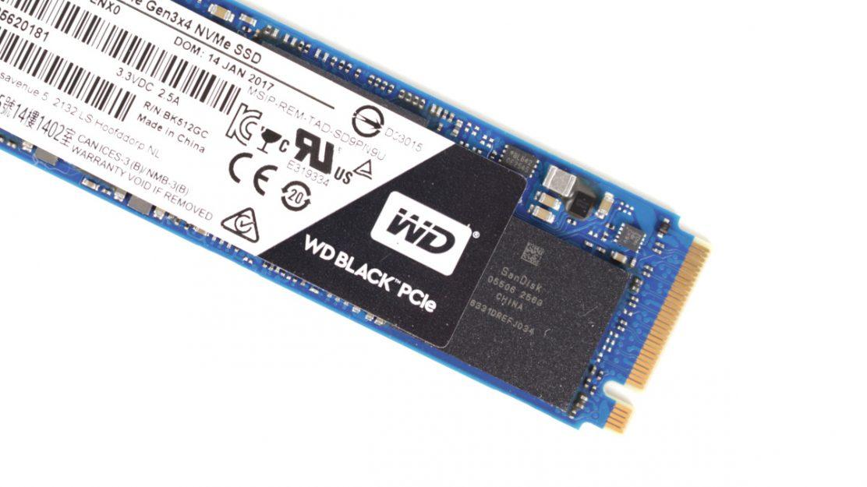 WD Black PCIe SSD 512 GB