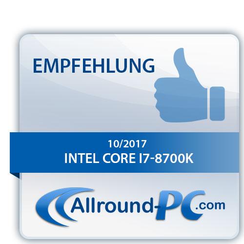Intel Core i7 8700K Award