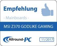 MSI Z370 Godlike Gaming Award