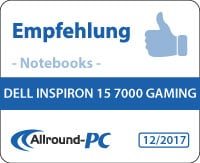 Dell Inspiron 15 7000 Gaming Award