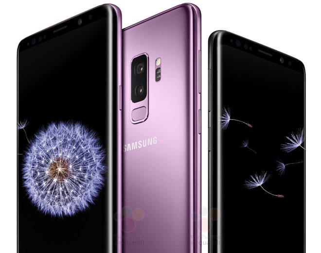 Samsung Galaxy S9 Vorder und Rückseite
