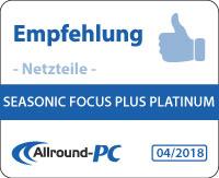 Seasonic Focus Plus Platinum Award