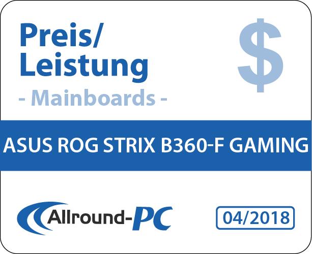 Asus ROG Strix B360-F Gaming Award