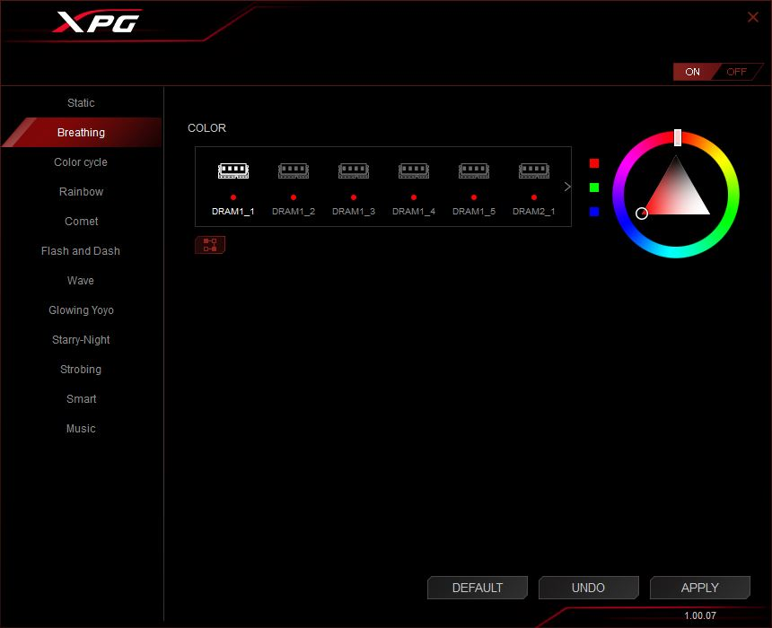 XPG RGB Sync Software