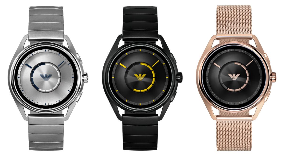 emporio armani connected neue smartwatch mit edelstahl. Black Bedroom Furniture Sets. Home Design Ideas
