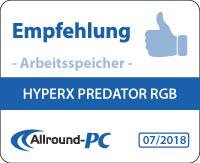 HyperX Predator RGB Award