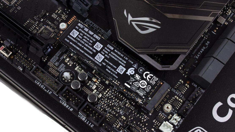 Intel SSD760p 512GB - Im M.2 Schacht