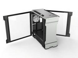 Phanteks Evolv X Galaxy Silver geöffnete Seitenfenster