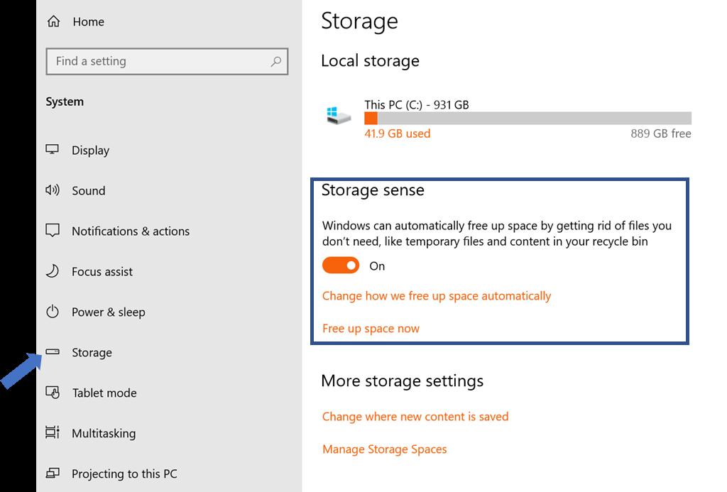 Datenbereinigung Windows 10