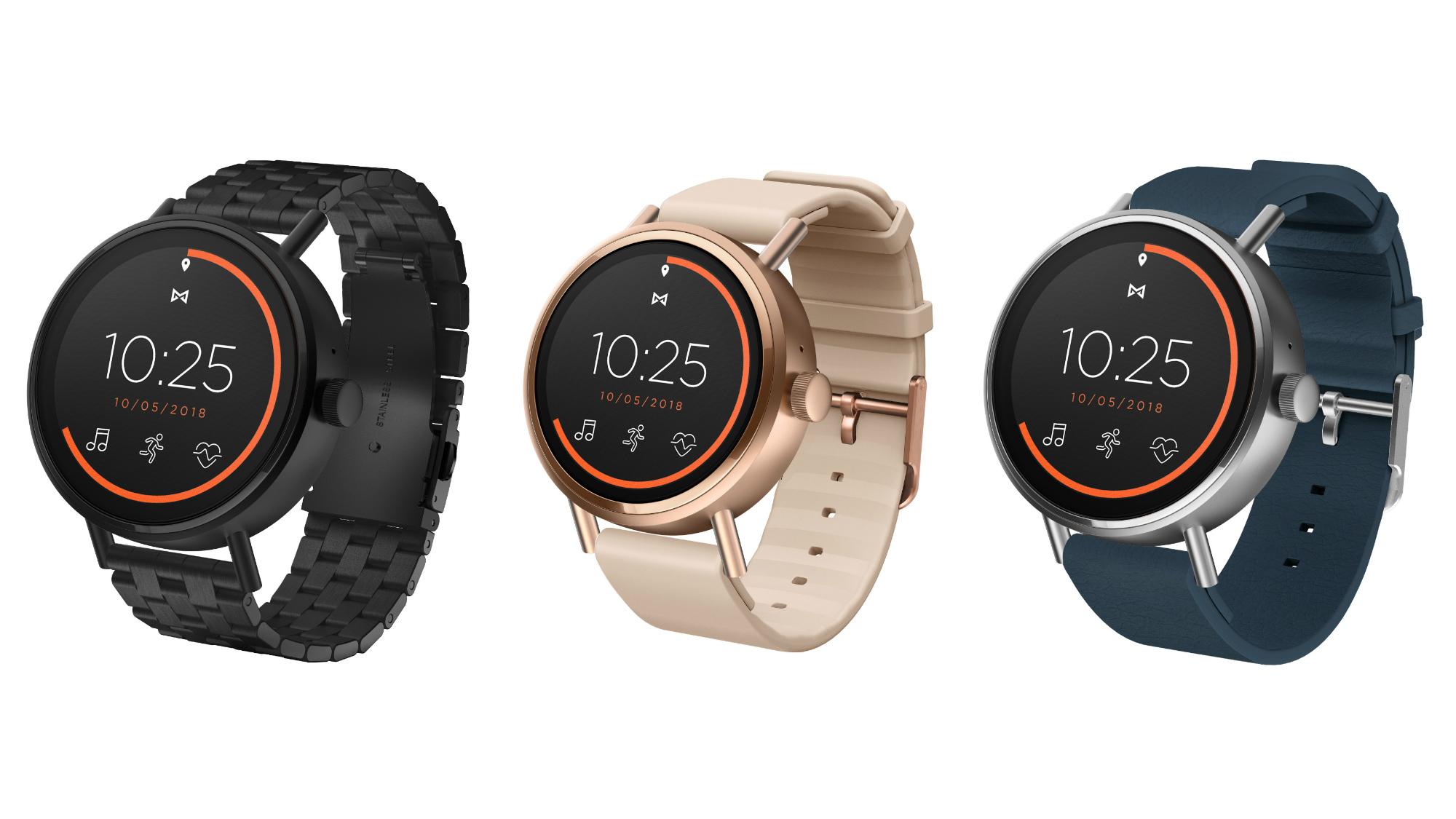 misfit vapor 2 neue wear os smartwatch in 41mm und 46mm. Black Bedroom Furniture Sets. Home Design Ideas