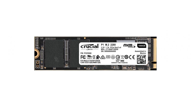 Crucial P1 SSD mit 1 TB - Draufsicht