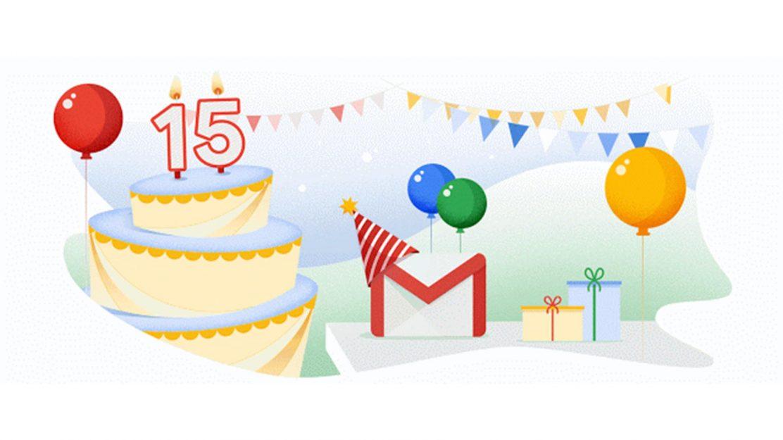 Gmail 15 Jahre
