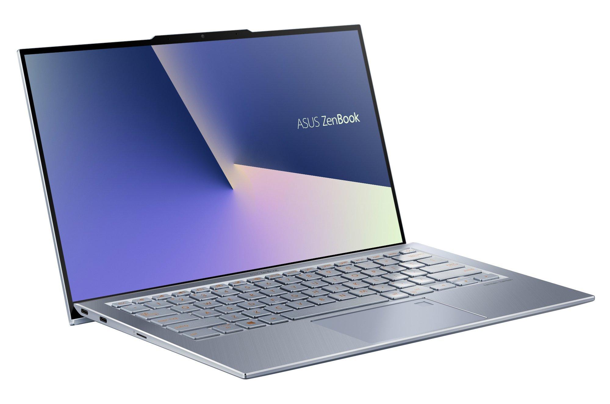 """Das ASUS ZenBook S13 in seiner vollen Pracht: besonders das 13,9"""" Display mit seinen dünnen Displayrändern sticht hervor!"""
