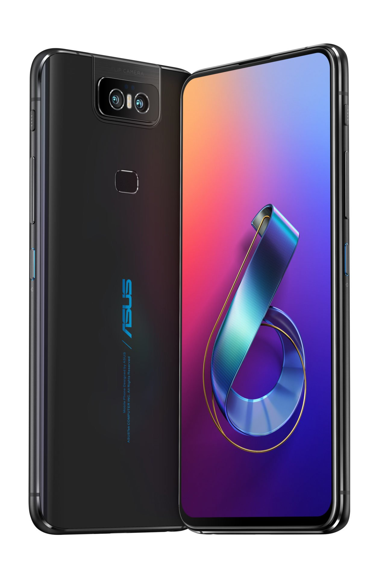 Das ASUS ZenFone 6 in Midnight Black.