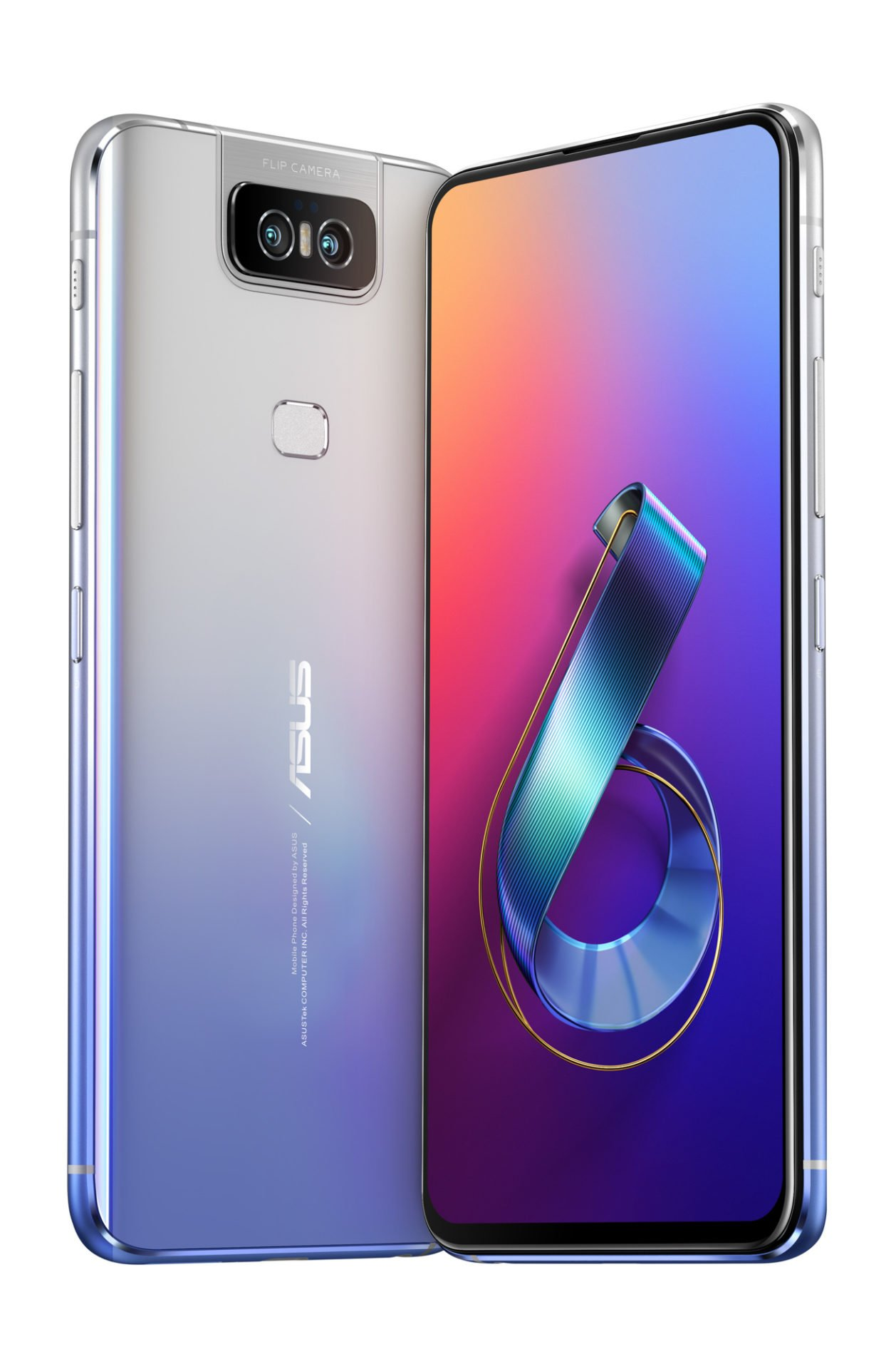 Das ASUS ZenFone 6 in Twilight Silver.