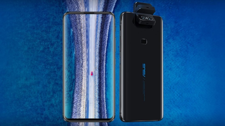 Das ASUS ZenFone 6 in Midnight Black kann besonders mit dem Display ohne Notch und der beweglichen Kamera beeindrucken.