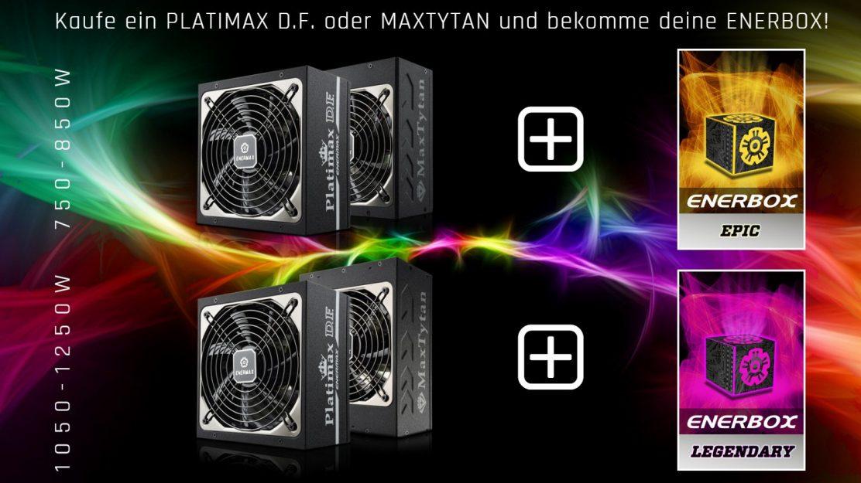 Mit der Enermax ENERBOX Aktion bekommen Käufer eines Netzteils eine kostenlose Lootbox dazu.