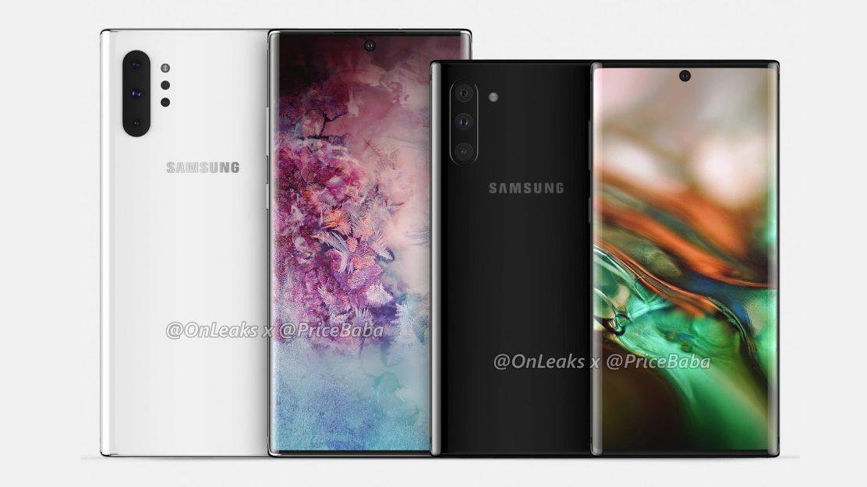 Das Samsung Galaxy Note 10 Pro und Galaxy Note 10 im Größenvergleich!
