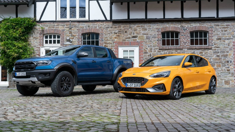 Ford Ranger Raptor und Ford Focus ST auf dem Ford Performance Event 2019