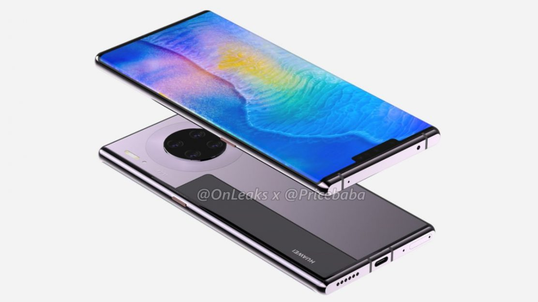 Huawei Mate 30 Pro Render Onleaks